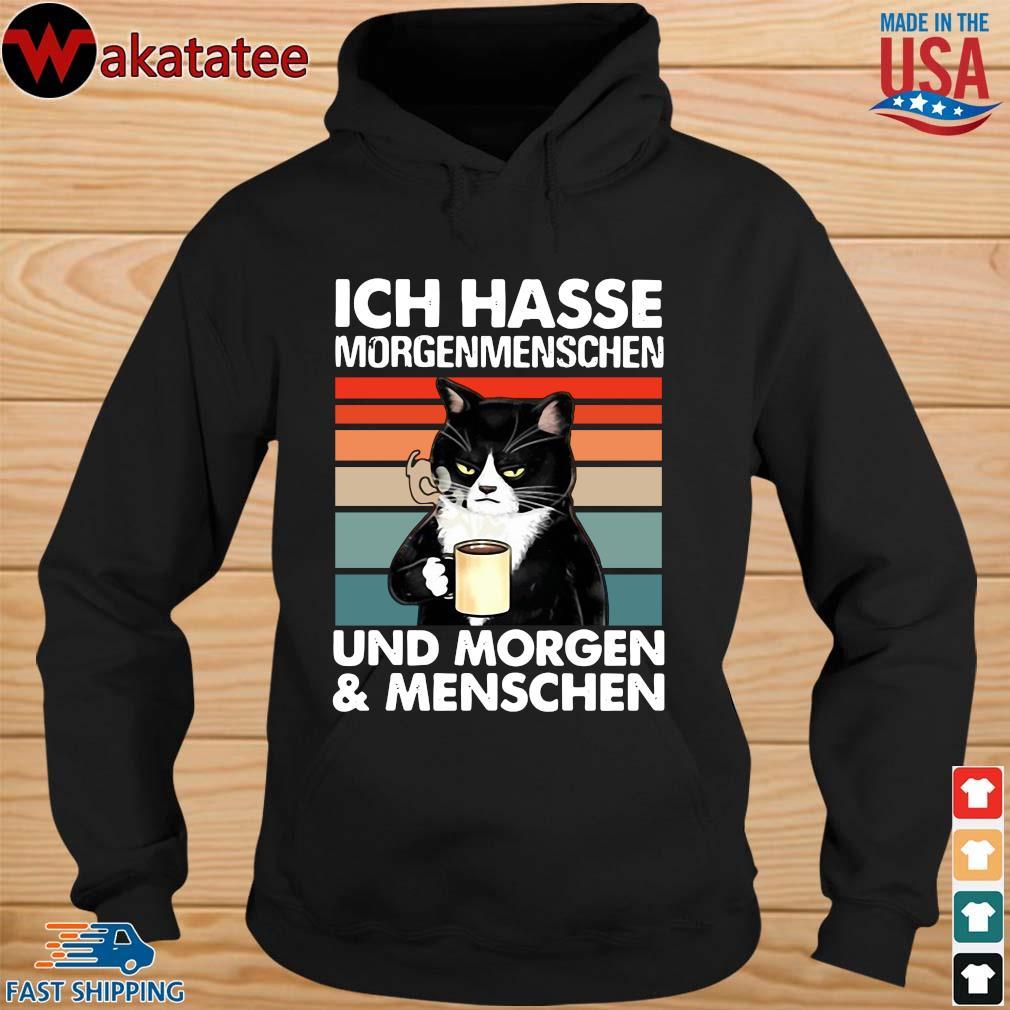 Cat ich hasse morgenmenschen und morgen menschen vintage s hoodie den