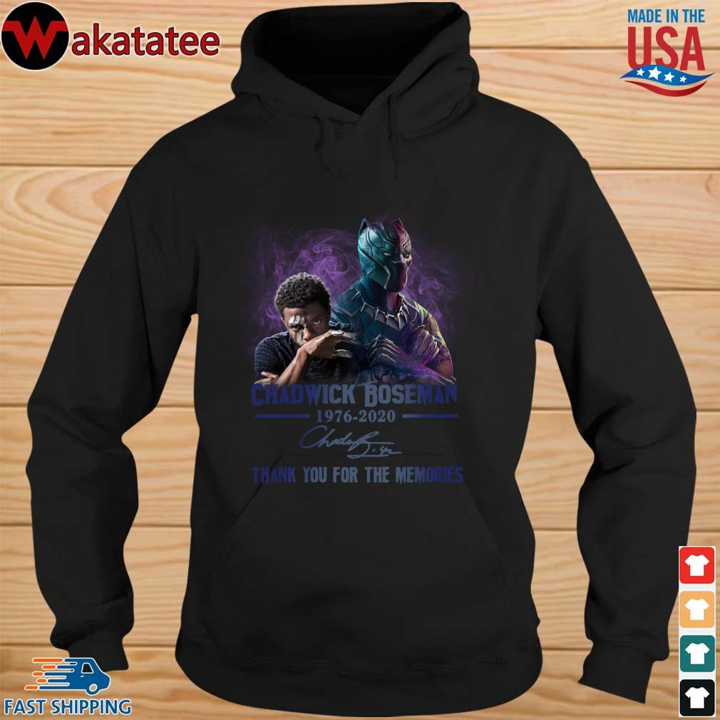 Chadwick Boseman 1976-2020 signature thank you for the memories s hoodie den