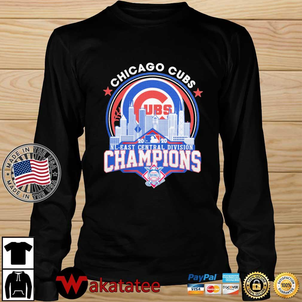 Chicago Cubs 2020 NL East Central Division Champions s Wakatatee longsleeve den