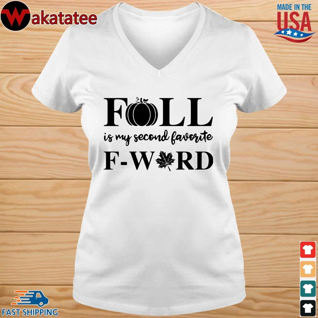 Fall is my second favorite f-word weed s vneck trang