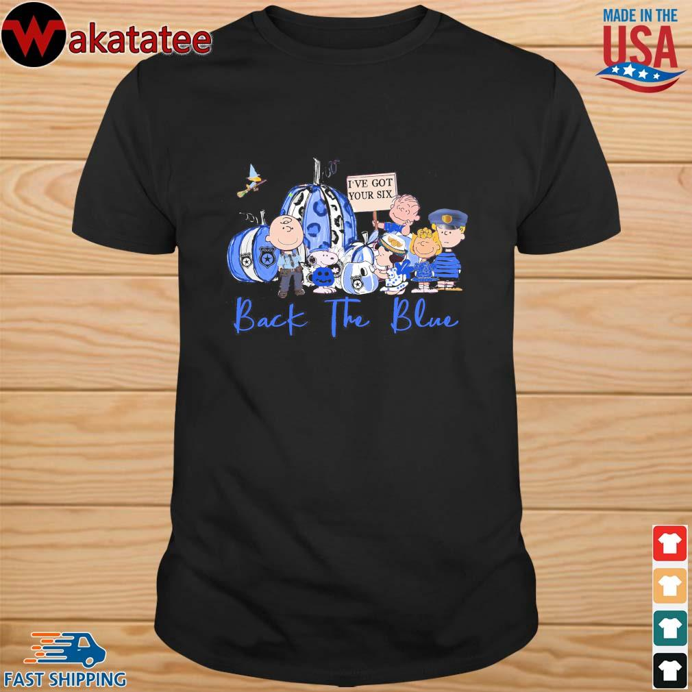 Halloween Snoopy the Peanuts back the blue shirt