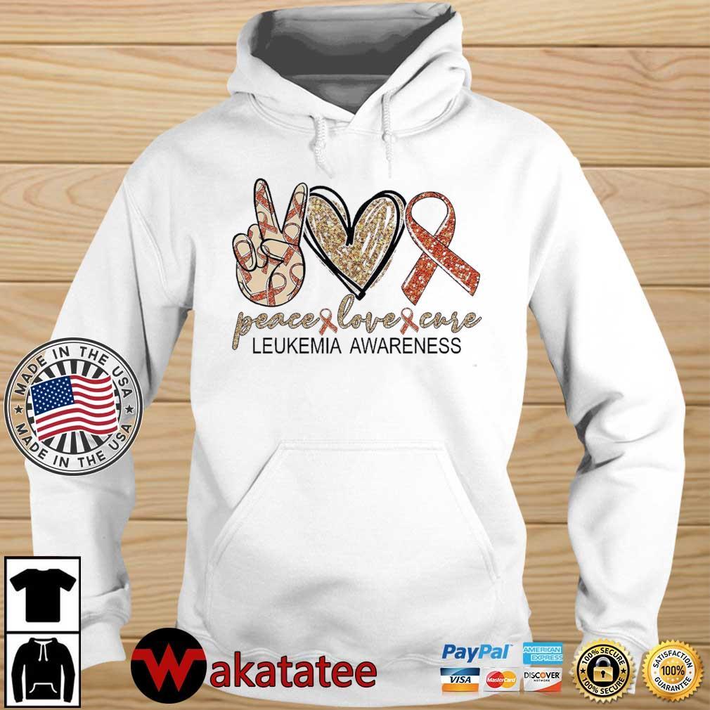 Peace Love Cure leukemia awareness Diamond s Wakatatee hoodie trang