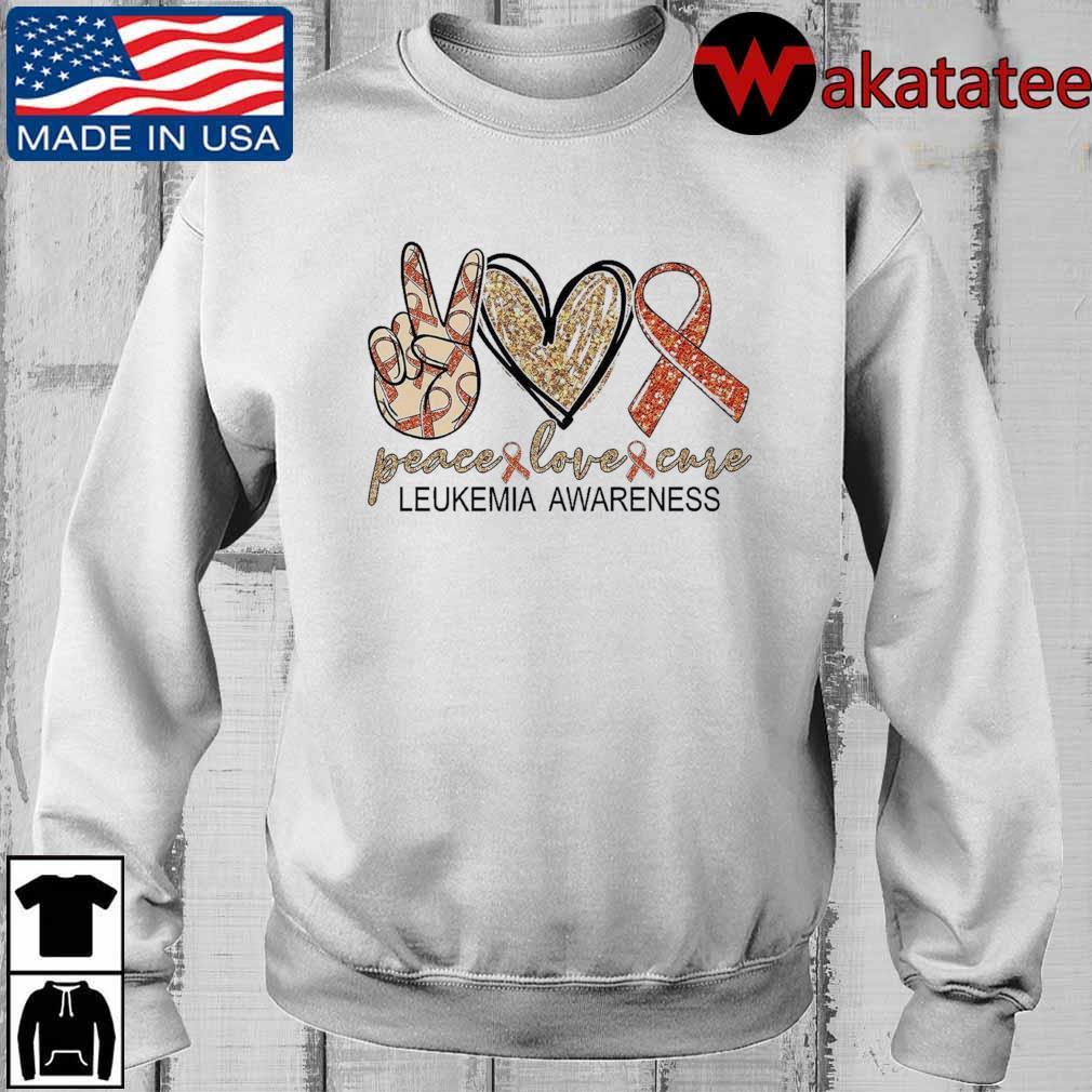 Peace Love Cure leukemia awareness Diamond s Wakatatee sweater trangs