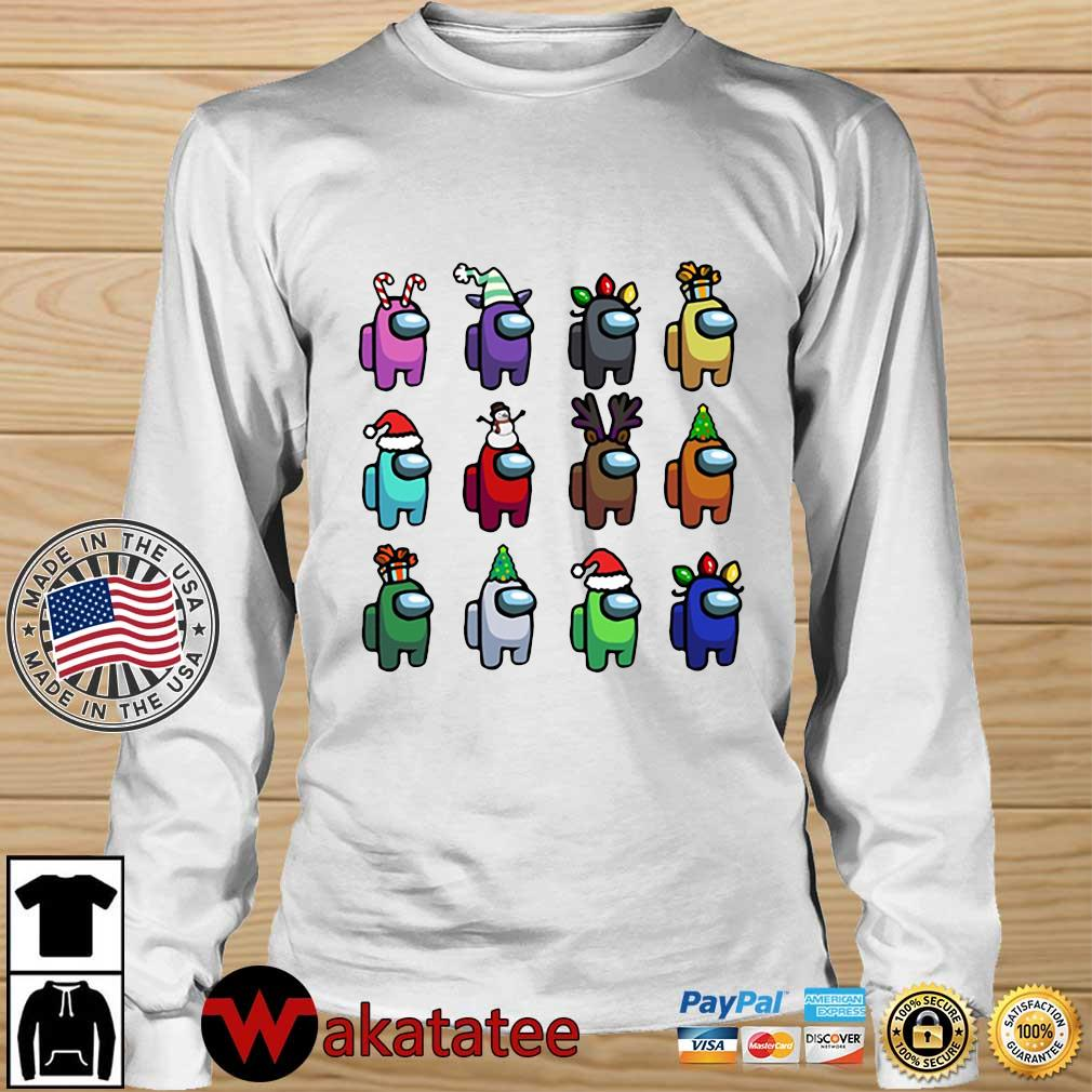 Among Us Character Customize Christmas 2020 Sweats Wakatatee longsleeve trang