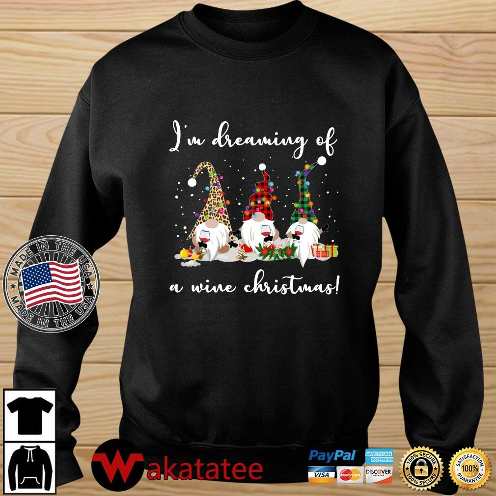 Three Gnomes I'm dreaming a wine Christmas sweater