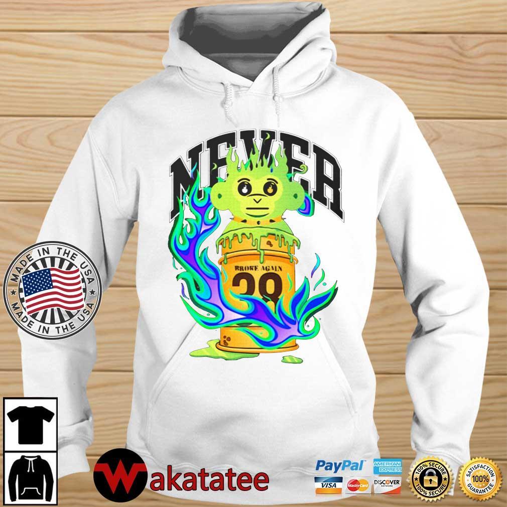 Never broke again slime ooz s Wakatatee hoodie trang